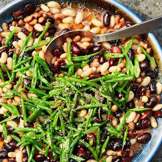 Mixed Bean Salad with Tomato Vinaigrette Recipe