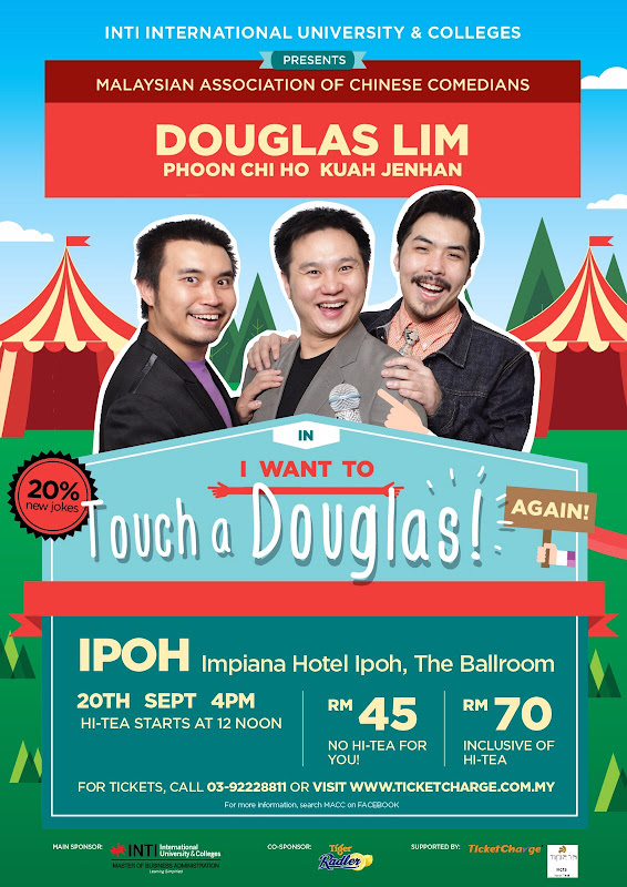 Announcement: I Want To Touch a Douglas Again! Live in IPOH!