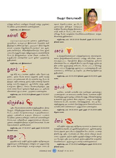 ... Tamil Magazine Mangayar Malar for the period 16-2-2016 to 29-2-2016