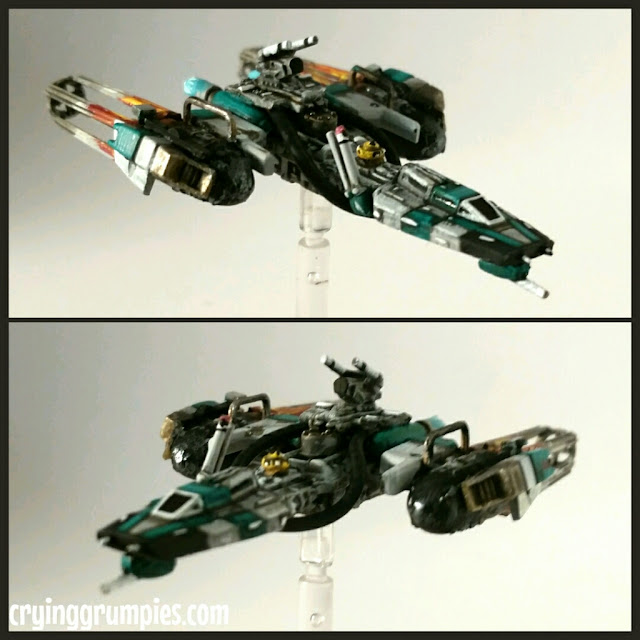 Y-Wing scum modificado y pintado por Xela