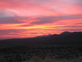 I awoke to this spectacular sunrise. Taken with flash