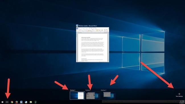 Chuyển nhanh giữa máy tính để bàn ảo