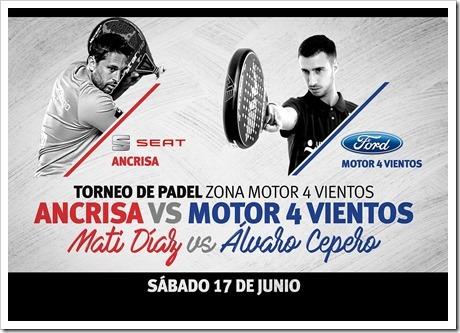 Torneo Pádel Zona Motor 4 Vientos: ¿Eres más de Matías Díaz o de Álvaro Cepero?