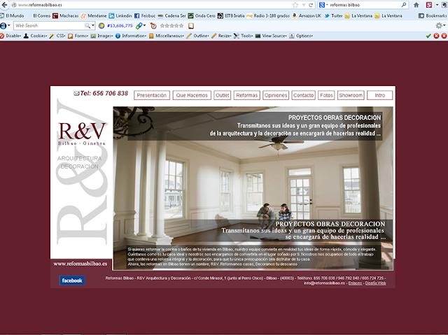 Una página web en ordenador