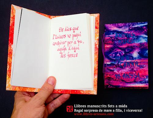 Llibre manuscrit fet a mida de filla a mare.