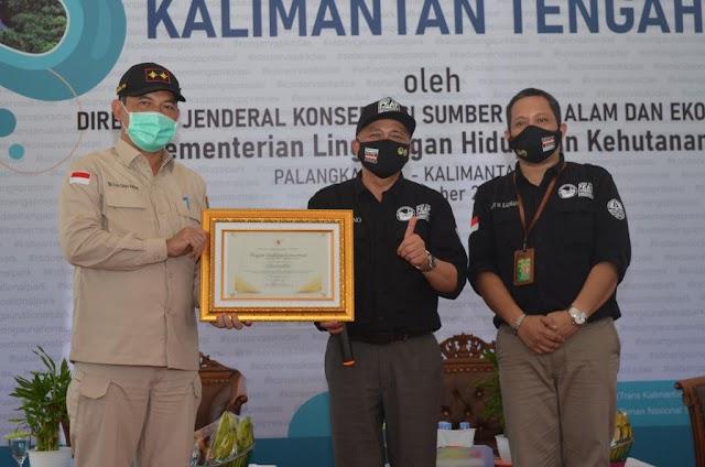 Gubernur Kalteng Terima Penghargaan Kementerian LHK
