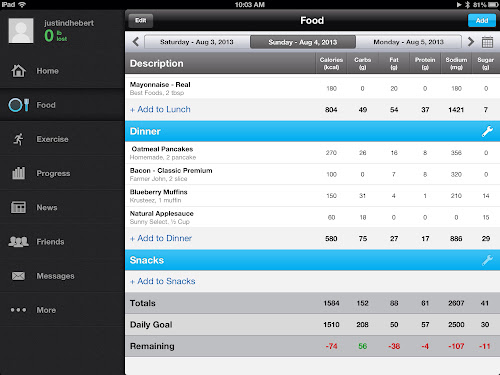MyFitnessPal Food Screen
