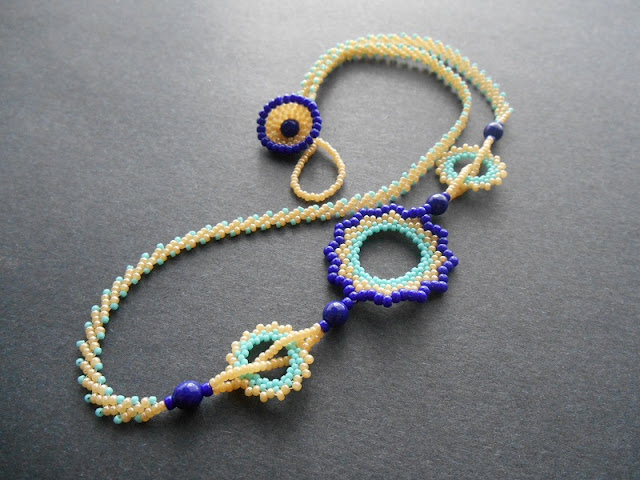 Circular Peyote Stitch Necklace Tutorial