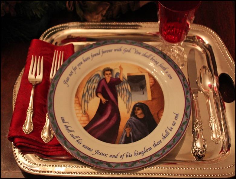 Mary and the Angel plate