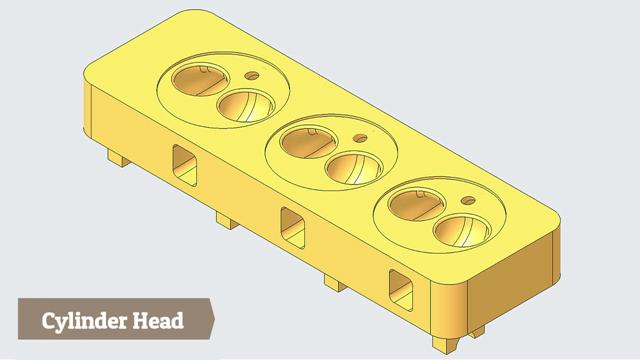 Engine Cylinder Head -- Creo Parametric Tutorial
