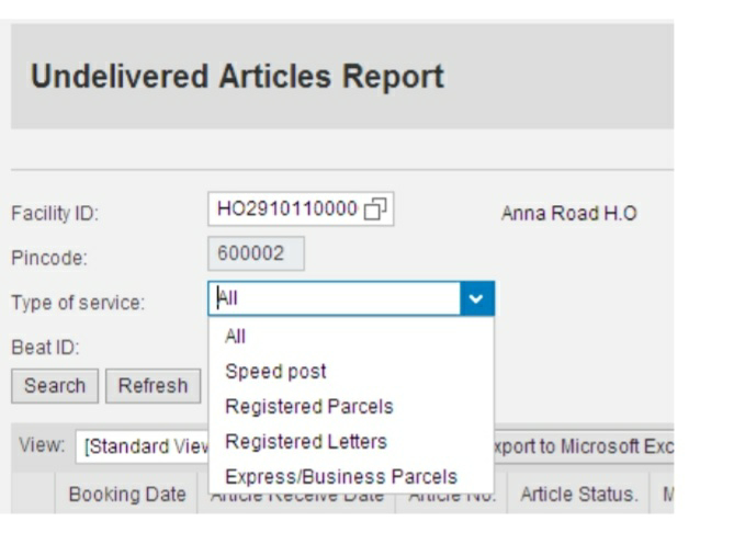 how to treat Undelivered Articles in SAP
