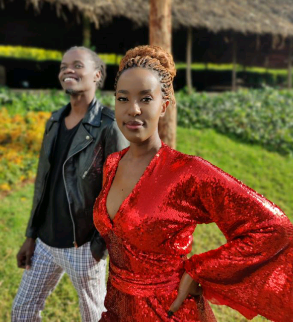 Gospel rapper Juliani with Lilian Ng'ang'a in a photo