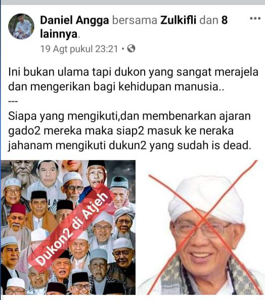 Hina Ulama Aceh, LSM  Acheh Future Laporkan Akun FB ke Polres Aceh Timur