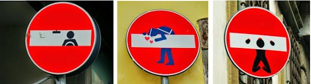 El arte urbano florentino en las señales de tráfico es una seña de identidad