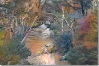 Dandenong Creek styled on Aurthr Boyd