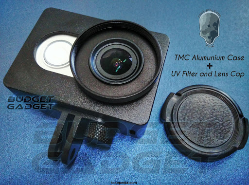 Aluminum Case for Xiaomi Yi with UV Filter+CNC Scr