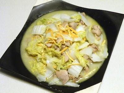 みかんの皮を使った鶏肉と白菜のゆず風味