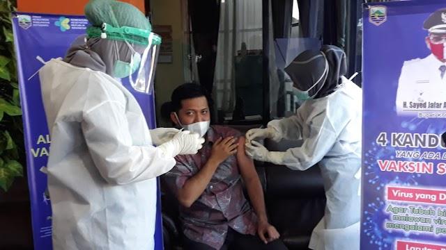 Legislator Kotabaru Ini Kembali Ikuti Vaksinasi