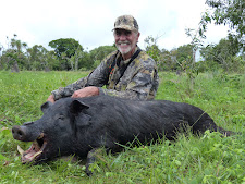 Mr Gitlitz from the USA, with a great old tusker, taken in January