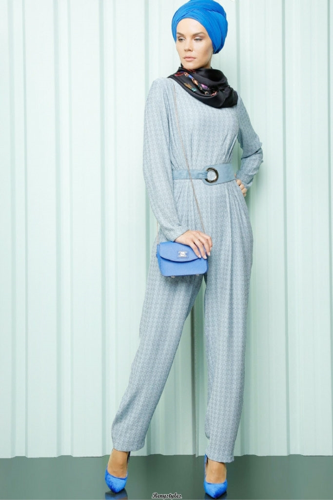 Latest and Modern Jumpsuit with Hijab