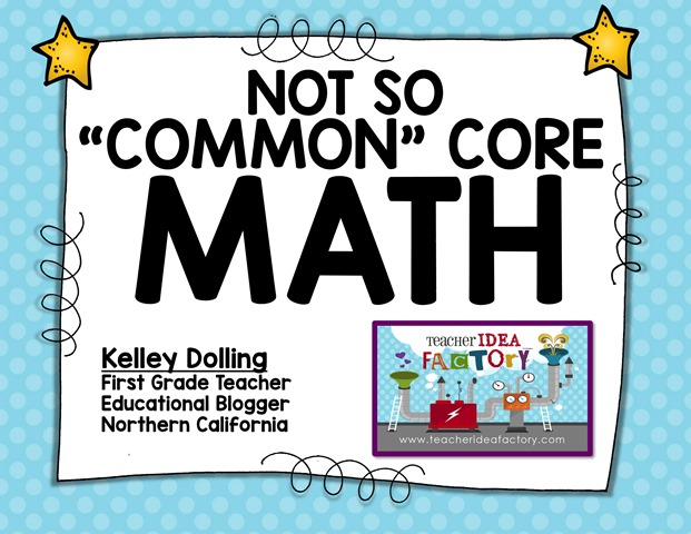 NOT SO COMMON CORE MATH_PreConference 2016