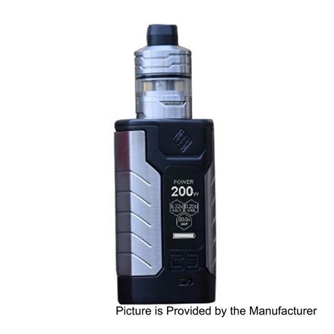 authentic-wismec-sinuous-fj200-200w-4600mah-tc-vw-variable-wattage-mod-divider-tank-kit-black-1200w-4ml-25mm-diameter