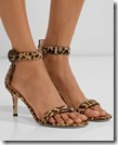 Gianvinto Rossi Leopard Print Sandals