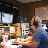 Terry W8ZN (foreground) on 20m SSB and Jason KJ4EOO (background) on 40m SSB