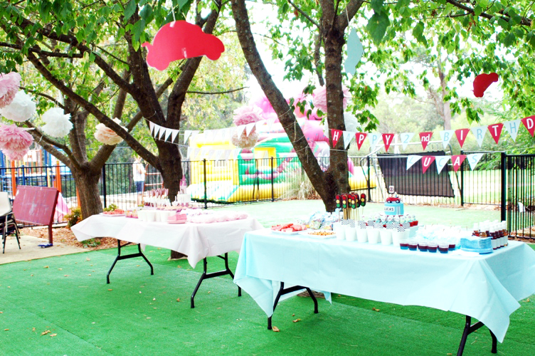 The cupcake gallery blog happy birthday teaghan lucas for Decorating ideas for outdoor engagement party