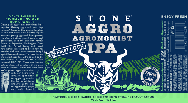 Stone Aggro Agronomist IPA Coming To Farm To Can Series