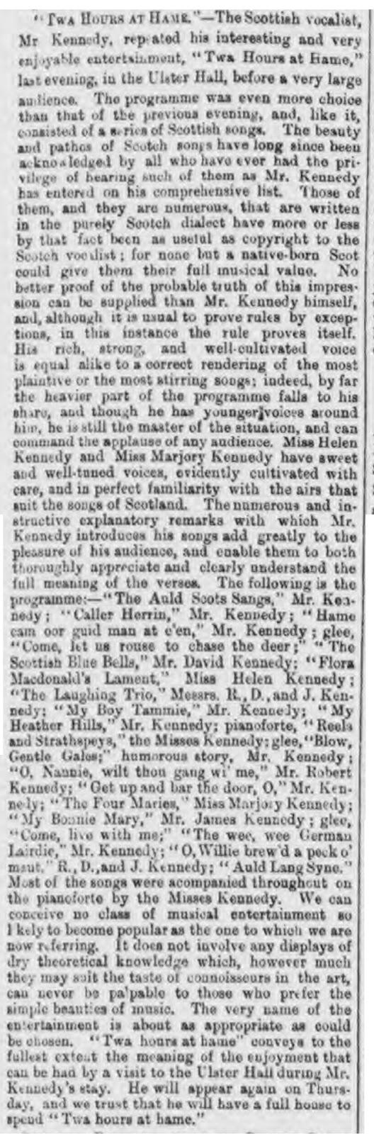 Twa Hours at Hame 1877