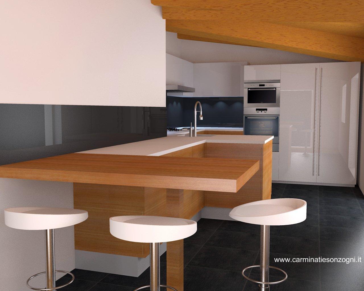Cucine Per Mansarde. Cucine Per Mansarde In Ciliegio With Cucine Per ...