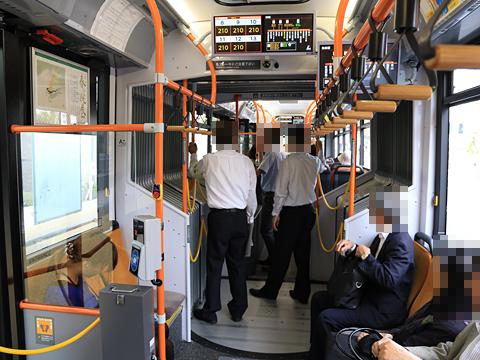 新潟交通 萬代橋線BRT 連接バス ・・・1 車内 その1