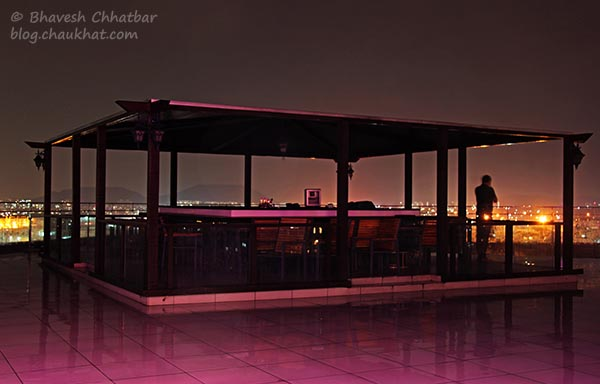 Outdoor Seating at The Flying Saucer Sky Bar, Viman Nagar, Pune