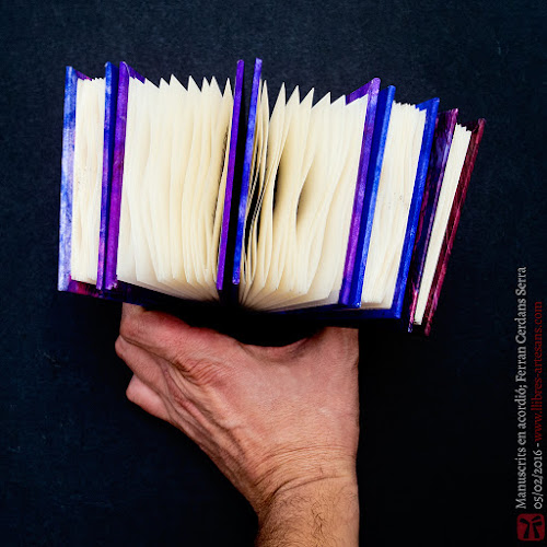 Fotografia artística, llibres manuscrits de Ferran Cerdans