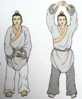 Первый кусок - Обеими руками поддерживать небо и подогревать тройной обогреватель