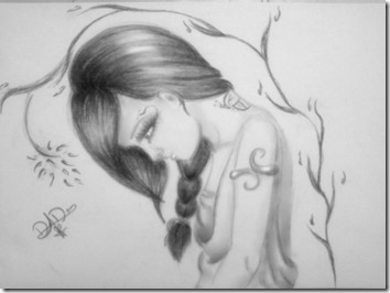 dibujos lapiz llorar y tristeza  (14)