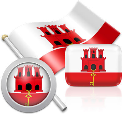 Gibraltar flag icons pictures collection