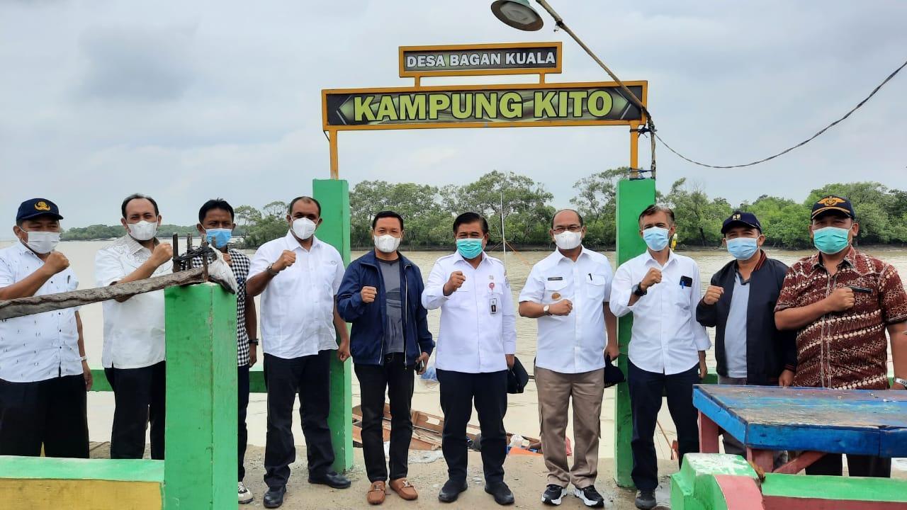 Kapolres Sergai Hadiri Kunker BNPP RI di Desa Bagan Kuala