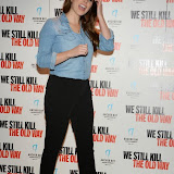 WWW.ENTSIMAGES.COM -  Lucy Pinder   arriving at      We Still Kill The Old Way - private film screening at The Ham Yard Hotel, London September 29th 2014Private screening of forthcoming film about a group of former 1960s gangesters who come out of retirment to take on a group of youths after one of their number is murdered.                                                 Photo Mobis Photos/OIC 0203 174 1069
