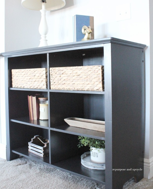 A-Faux-Wood-Bookcase-Makeover-with-Chalk-Spray-Paint