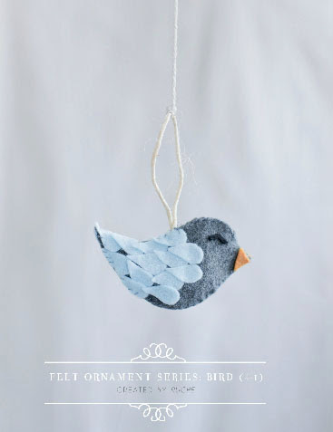 felt ornament by Ruche