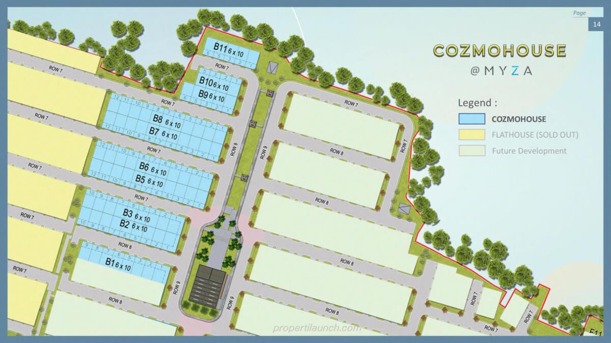 Siteplan Cozmo House Myza BSD