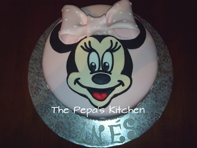Ideas para tartas:Tarta Minnie Mouse Fondant