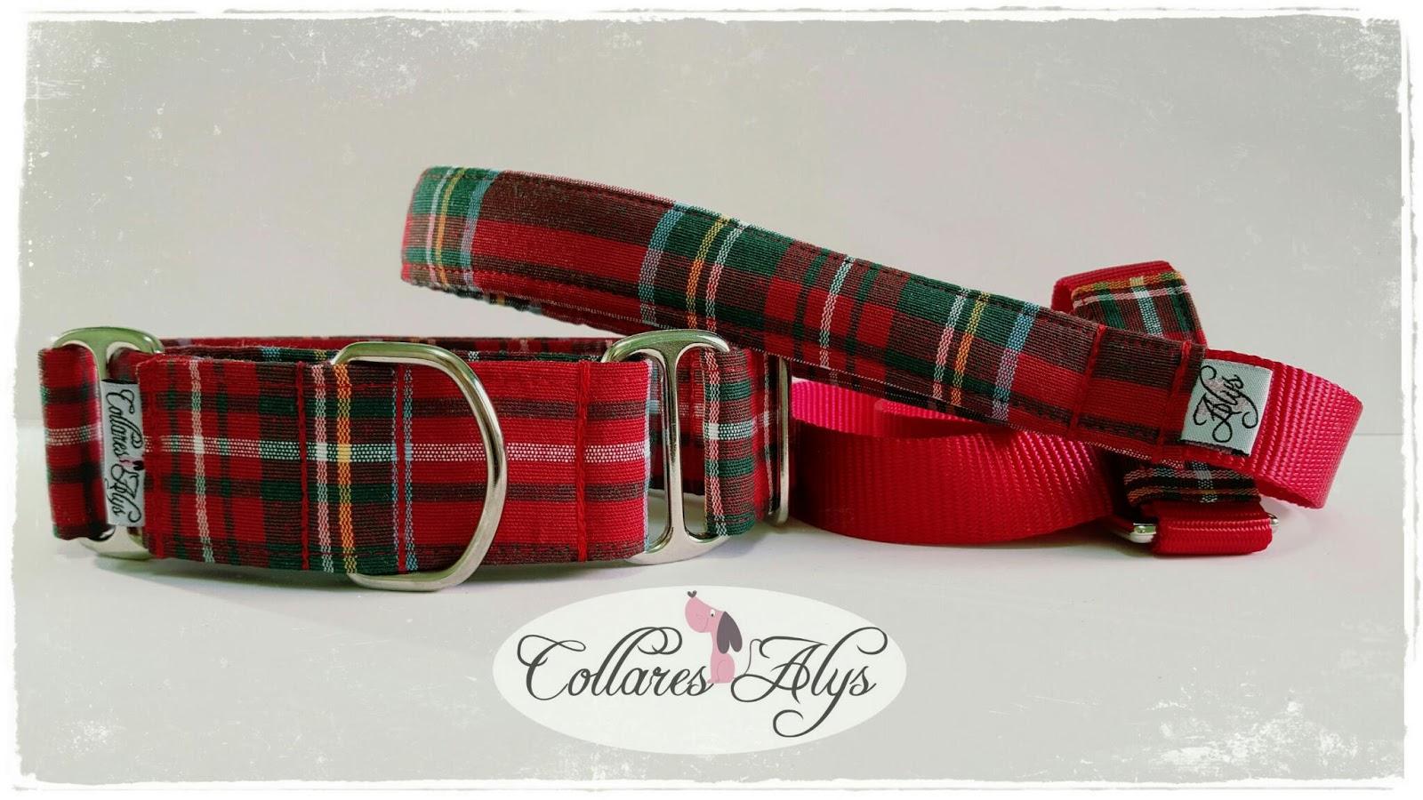 8bcf2429d4b1 Collares Martingale ALYS  Conjunto Alys de cuadros escoceses rojos ...