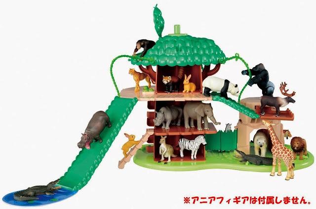 Thiết kế độc đáo của Khu vận động Big Action Tree tại vườn thú Takara Tomy