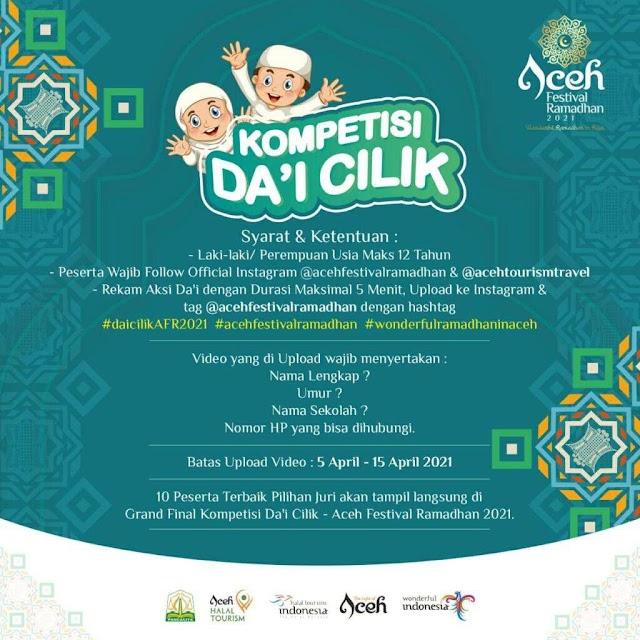 Kompetisi Da'i Cilik di Aceh Festival Ramadhan 2021