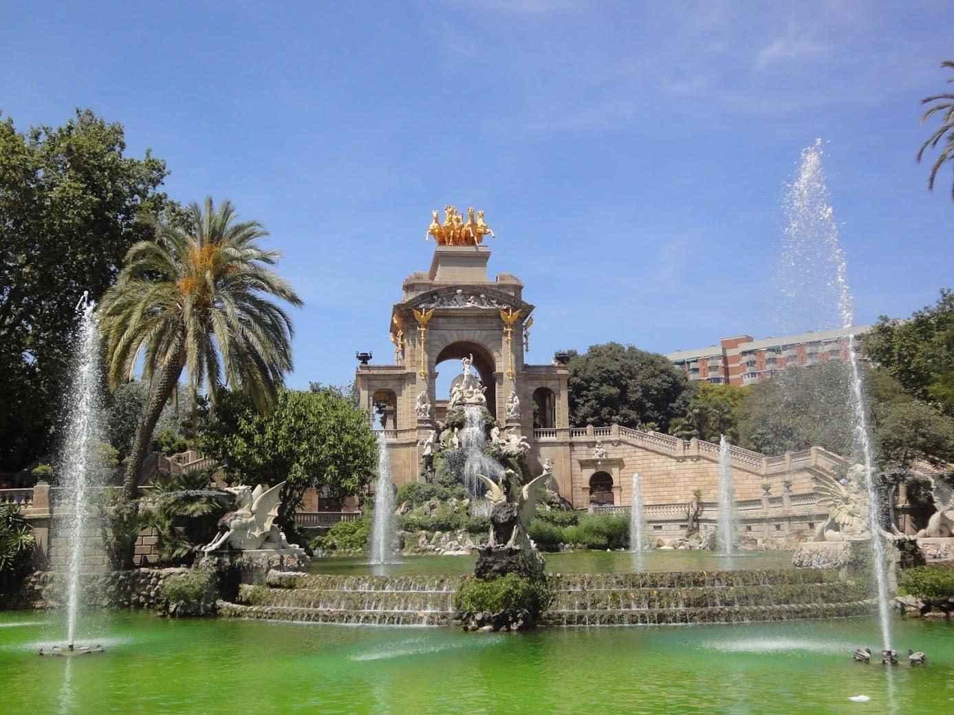 Cascada au Parc Ciutadella à Barcelone
