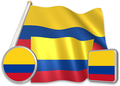 Colombian flag animated gif collection