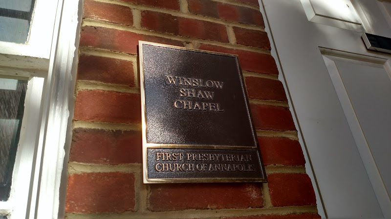 bronze plaque - winslow shaw chapel annapolis